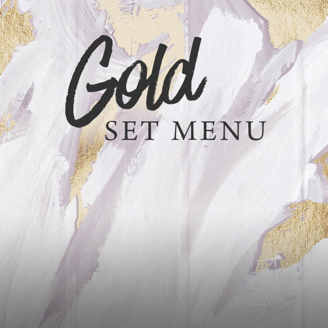 Gold set menu at The Blue Anchor