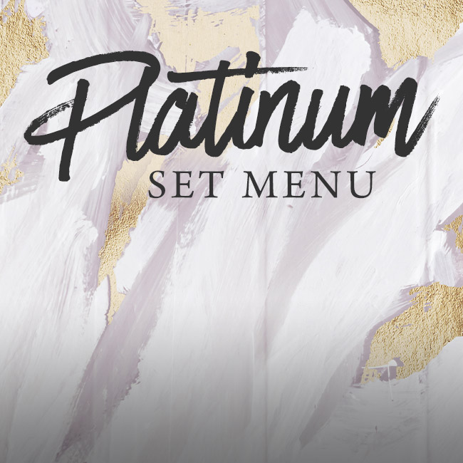 Platinum set menu at The Blue Anchor