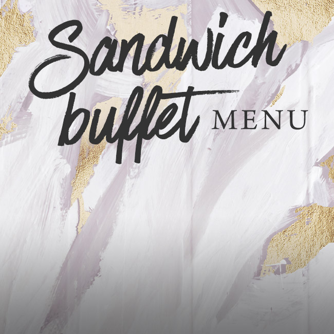 Sandwich buffet menu at The Blue Anchor