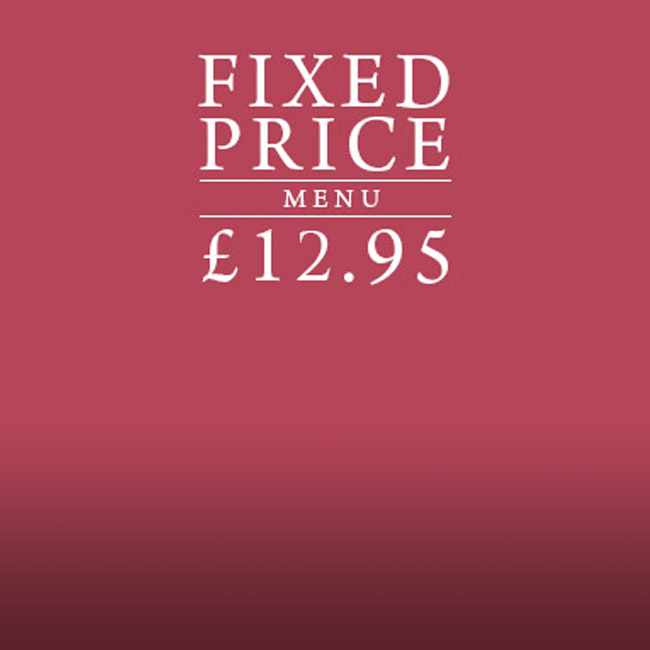 Fixed Price Menu at The Blue Anchor